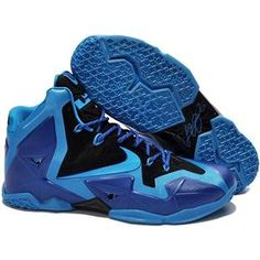 For Wholesale Authentic Nike Lebron XI Deep Blue 616175 200 Nike Lebron, Lebron 11, Lebron James, Purple Basketball Shoes, Basketball Shoes On Sale, Nike Basketball, Bryant Basketball, Soccer Shoes, Kobe 9 Shoes