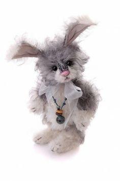 "Charlie Bear Bella 7.5"" Mohair Bunny Rabbit"