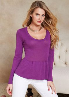 c27b80542cc9 Peplum Sweater - View All Tops - Tops - Clothing - Alloy Apparel