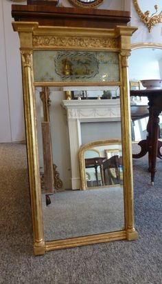 Regency Gilt Pier Mirror.  www.annabellesgiltshop.co.uk