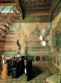 Gabriella Crespi apartment, Palazzo Cenci in Rome. Ph: Robert Emmett Bright/Alessandro De Crignis.