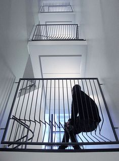 Kaide-taide by Company. Finnish designers Company have created railings for a stairway where the bars at each landing are distorted in a different way. Called Kaide-taide (Art-handling), the project was commissioned for an eight-storey residential building in Helsinki, Finland.