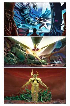 """Me bajo del carro de Uncanny Avengers (mucho ruido pocas nueces) y me subo al de Avengers. Sólido número #1 de Jonathan Hickman al mando, dibujado excepcionalmente por Jerome Opeña. La consigna es """"We have to get bigger""""."""