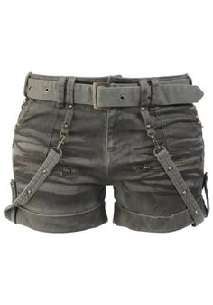 Studded Hotpants by Black Premium by EMP