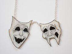 Zombie Theatre Masks Necklace