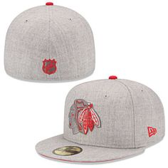Get this Chicago Blackhawks Heather League 5950 Fitted Cap at ChicagoTeamStore.com