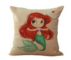 Cartoon Princess Ariel Pillowcase Gift Decorative home decor cushion pillow New #Unbranded