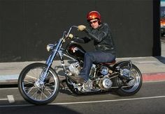 Brad Pitt On A Indian Larry Custom Motorcycles