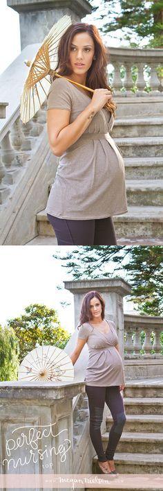 Wow gorgeous check out DIY Maternity! Megan Nielsen Perfect Nursing Top sewing pattern MN1001 // @Megan Ward Nielsen @Amanda Snelson McConnell #pregnancy