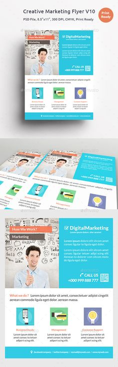 Marketing Flyer Template PSD Free Download Work ideas - promotional flyer template