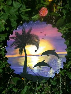 Hand painted saw blade by TIKKI'S CREATIONS!