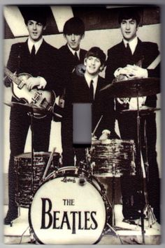 Beatles Music Switchplate Cover  Single Jumbo by SpottedDogStudios, $8.00