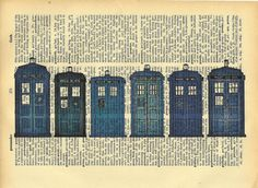 book and paint... Those aren't actually police boxes, you know.