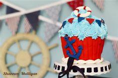 Nautical Cake Smash - Shannon Mulligan Photography