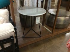 Side table at world market Katie Anderson, World Market, Bar Stools, Table, Furniture, Home Decor, Bar Stool Sports, Decoration Home, Room Decor