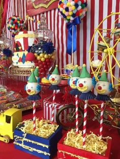 Festejos Party Rentals's Birthday / Circus / Carnival - Photo Gallery at Catch My Party Circus Party Decorations, Circus Carnival Party, Circus Theme Party, Carnival Birthday Parties, Circus Birthday, Birthday Party Themes, Birthday Ideas, Circus 1st Birthdays, Baby Party