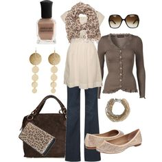 love the neutral colors, especially the cardigan