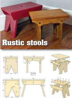 Rustic Stool Plans - Furniture Plans and Projects | http://WoodArchivist.com