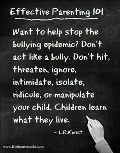 We often blame a child for their offensive behaviors but one needs to step back and realize just 'how' they learned to act like this in the first place...