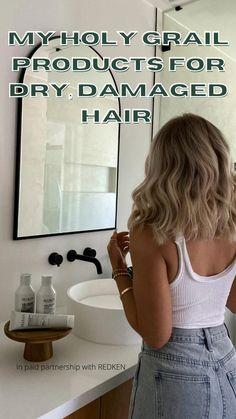 Medium Hair Styles, Curly Hair Styles, Hair Growing Tips, Bleached Hair, Aesthetic Hair, Dream Hair, Hair Health, Damaged Hair, Hair Highlights