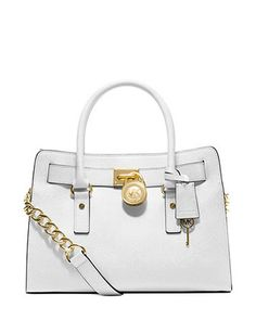 MICHAEL MICHAEL KORS Hamilton Saffiano Leather East West Satchel