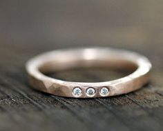 Diamond wedding band by Monkeys Always Look - this is really similar to my engagement ring, which I still adore