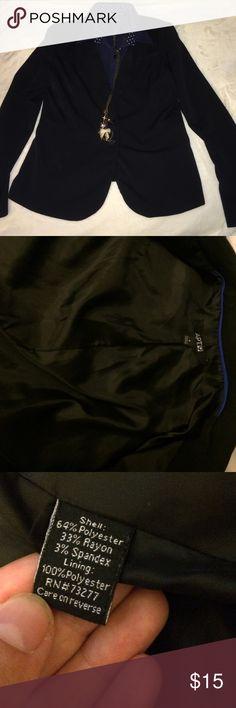 Apt 9 black blazer Good condition, dry clean black blazer. I have machine washed it a couple times. Apt. 9 Jackets & Coats Blazers