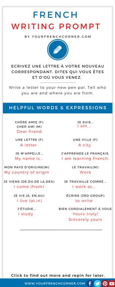 Talking About Yourself In French: French Words and Expressions You Need #fle #learningfrench Repin for later