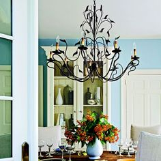 10 Wrought Iron Chandelier Designs