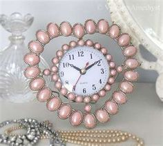 pink heart clock my favorite color and I love hearts great combination