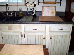 Handpainted Faux Finished Kitchen Cabinets