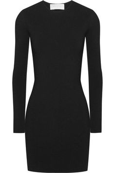 Esteban Cortazar - Peace Sign Cutout Jersey Mini Dress - Black -
