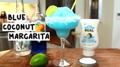 BLUE COCONUT MARGARITA 1 oz. (30ml) Tequila 1 oz. (30ml) Blue Curaçao 1/2 oz. (15ml) Lime Juice 1 oz. (30ml) Cream of Coconut Rim: Coconut Shavings Garnish: Lime Wheel PREPARATION 1. Rim the edge of your glass using coconut shavings. Set aside. 2. In a blender with ice, combine tequila, blue curaçao, lime juice, and cream of coconut. Blend thoroughly until smooth. 3. Pour mix into rimmed glass and garnish with a lime wheel. DRINK RESPONSIBLY! *Recipe by IG: @mystiq.mixes