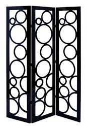 The Stylish Wooden Three Panel Screen gives your home or studio a unique yet stylish feel. The screen has designs which are detailed and is available in the classic combination of black and white.