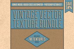 Vintage Vector Texture Bundle by Matt Borchert on @photoshoplady