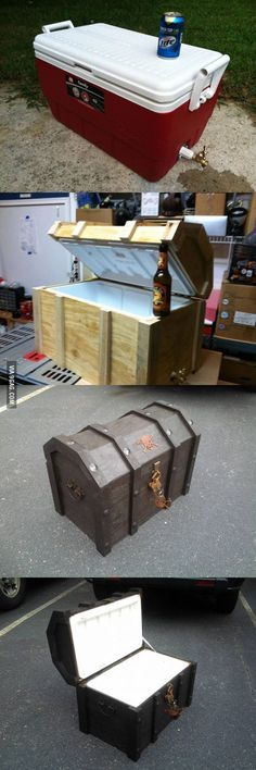 DIY Chest Cool Box - Actually doesn't look that difficult to mod for camp!