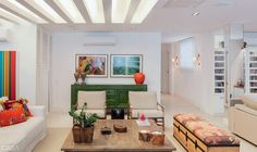 Love the detail on the ceiling and the simplicity of the environment plus the pop of color over a neutral canvas!