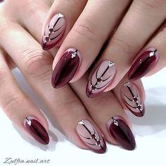 Acrylic Nail Designs Glitter, Nail Designs Bling, Bling Acrylic Nails, Nails Design With Rhinestones, Rhinestone Nails, Bling Nails, Red Nails, Nail Art Designs, Fall Nails