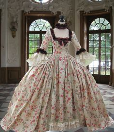 18th century Georgian Rococo Colonial *Marie Antoinette* DAY GOWN'..BEAUTIFUL!* | eBay DG