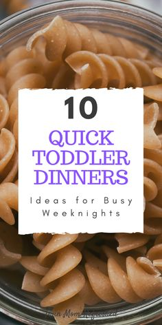 Toddler Meals 92659 Quick and easy toddler dinner ideas. These dinners are good for busy weeknights with kids and toddlers! Healthy Toddler Meals, Toddler Lunches, Toddler Dinners, Kids Meals, Toddler Food, Toddler Dinner Recipes, Healthy Lunches, Kid Friendly Dinner, Kid Friendly Meals