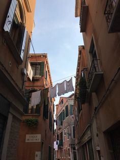 Clothes hung to dry around venice