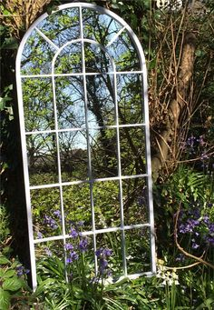 Tall Curved Arch Top Metal Garden Mirror | Garden Mirrors. Outdoor Mirrors & Illusion Mirrors | Products