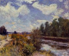 The Saine at Bougival  1876 | Alfred Sisley | Oil Painting