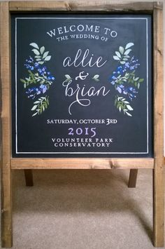 Wedding chalk board - welcome sandwich board