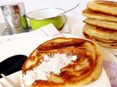Recept na Rychlé skořicové lívance bez kynutí Ham, Pancakes, Food And Drink, Menu, Lunch, Baking, Breakfast, Ethnic Recipes, Sweet