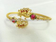 Peacock Style Bracelet-Wholesale Copper Bracelet-Indian traditional Gold Plated Cuff Bracelet Wholesale-Party wear Cuff Bracelet