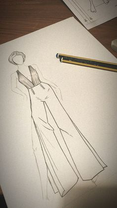 Fashion Design Sketches 753156737672936985 - Source by alyssiabouteldja Dress Design Drawing, Dress Design Sketches, Fashion Design Sketchbook, Fashion Design Drawings, Wedding Dress Sketches, Sketch Drawing, Dress Designs, Drawing Tips, Fashion Figure Drawing