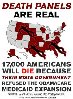 """Death panels - Created by the GOP.   It's another example of why GOP being """"pro-life"""" is a lie!  Vote BLUE!"""