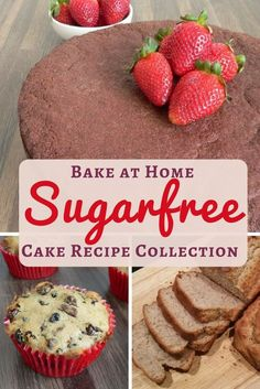 Sugar free cake recipes to bake at home delicious cakes without fructose, some gluten free too. Chocolate cake, banana bread, fruitcake, Christmas cake, scones...