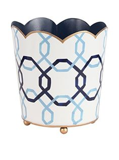 www.myhabit.com  Perfect for storing and toting small items, this patterned container made from recycled metal can also be used for potted plants and dried florals